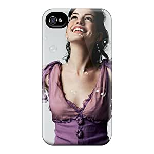 Defender Case With Nice Appearance (anne Hathaway Hd Widescreen) For Iphone 4/4s