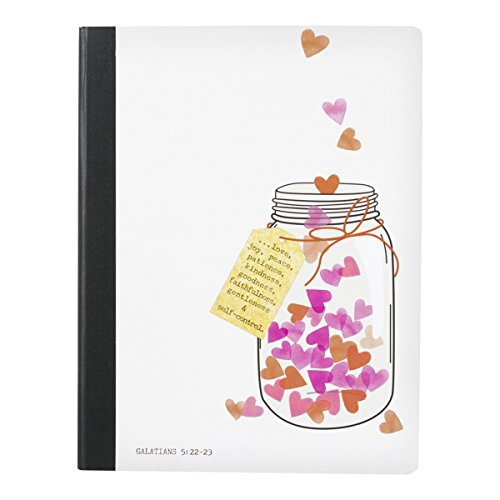 DaySpring Sadie Robertson's Composition Notebook, Jar of Hearts (76305)