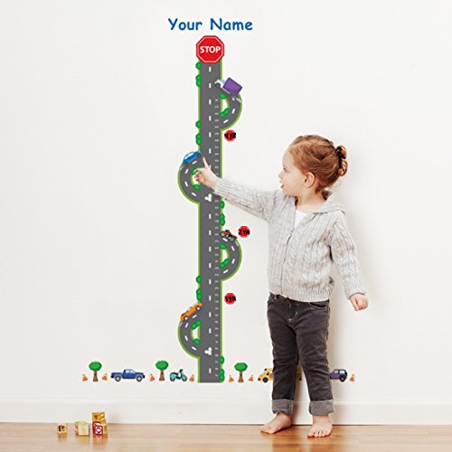 Personalized Transportation Growth Chart Wall Decals for Nursery, Kids Room (Growth Chart Cars compare prices)