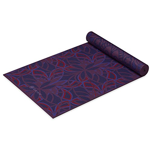Gaiam Yoga Mat Premium Print Reversible Extra Thick Non Slip Exercise & Fitness Mat for All Types of Yoga, Pilates & Floor Exercises, Divinity, 6mm