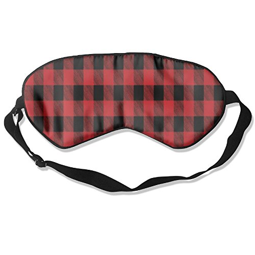 C-JOY Buffalo Plaid Red Adjustable Eye Shade Patch Sleeping