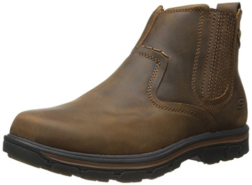 Skechers Usa Mens Segment-dorton Chelsea Boot Marrone Scuro