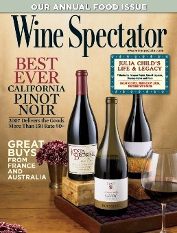 Wine Spectator Magazine, September 30, 2009 - Annual Food Issue, Best Ever California Pinot Noir