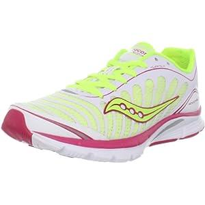 Saucony Women's Progrid Kinvara 3 Running Shoe,White/Citron/Pink,9.5 M US