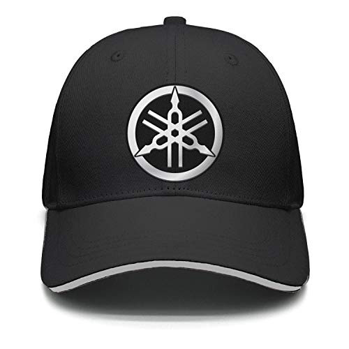 848b66dfaf0 Yamaha-Tuning-Fork-Motorcycle-Logo- Unisex Men Stylish Flat-Brimmed Hat Six  Panel Baseball Cap