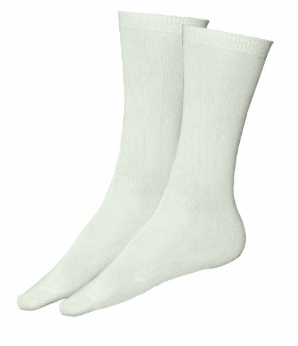 Terramar Adult Thermasilk Mid Calf Sock Liner, Natural, X-Small