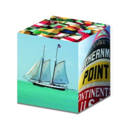 Tropical Island Vacation 3-D Art Cube Puzzle- 'Key West'