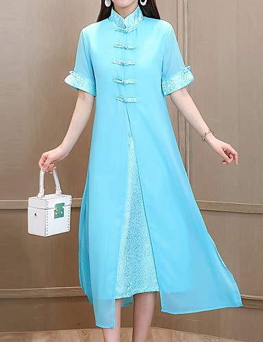 Blue unita A linea Tinta da Chinoiserie Sofisticata donna YFLTZ xw1B8pq60