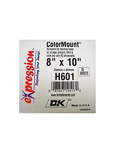 Price comparison product image D&K Colormount Dry Mounting Tissue 8X10 25Pk