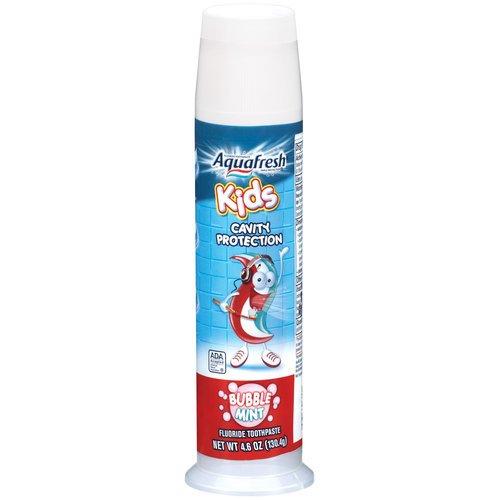 Trois Aquafresh Toothpaste pompe