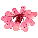 GZMAY Night Lights Hippo String Lights for Bedroom,4.9ft Battery Operated String Llights 10 LED Decorative for Children Bedroom Home Holiday Decortion