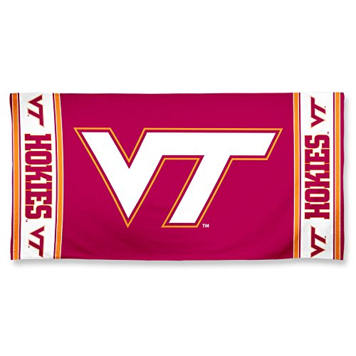 (NCAA Virginia Tech Hokies Fiber Beach Towel, 30 x)