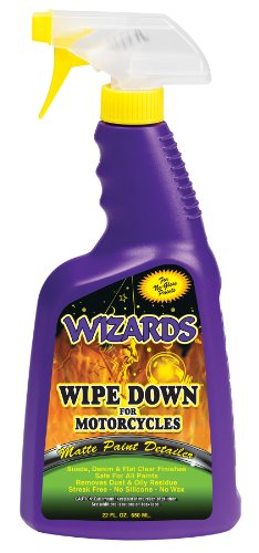 Wizards 22220 Wipe Down Motorcycle Matte Finish Detailer - 22 - Paint Wizard