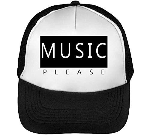 Styled Blanco Beisbol Record Negro Gorras Music Hombre Snapback Please 4UHWqp