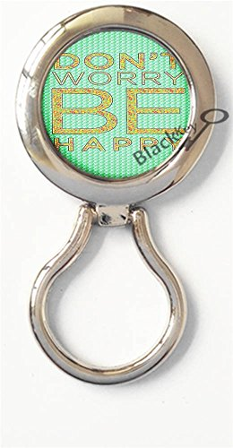 - BlackKey Dont Worry Be Happy Magnetic Metal Eyeglass Badge Holder, Eye Glass Holding Brooch -734