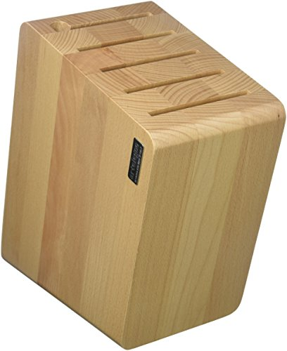 "Artelegno Magnetic Knife Block Solid Beech Wood, Luxurious Italian Verona Collection by Master Craftsmen Stores up to 12 High-End Knives Elegantly, Eco-friendly, for Blades up to 9.8"", Natural Finish"
