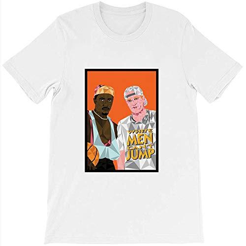 White Men Can't Jump Geometric Poster Vintage Gift Men Women Girls Unisex T-Shirt (White-2XL)