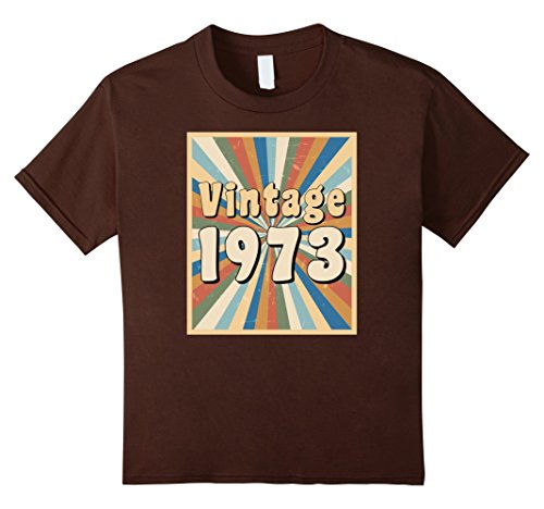 Kids Vintage 1973 t-shirt with retro 1970s look 6 (70s Look For Girls)