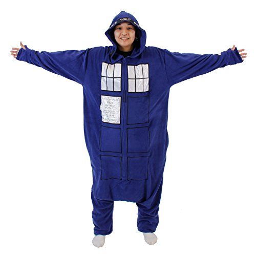 Doctor Who Police Booth Tardis Hooded Kigurumi One