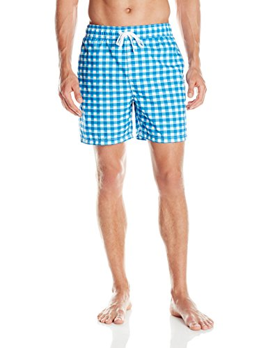 (Kanu Surf Men's Riviera Swim Trunks, St. Moritz Royal, Medium)