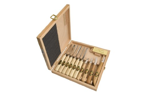 Two Cherries 515-3441 11-piece Carving Tools In Wood Box by Two Cherries