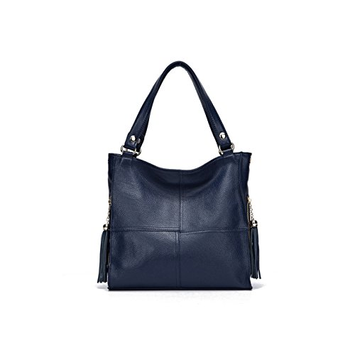 Fringed Stitching Tote Juwojia Large Shoulder Capacity Bag Soft Leather One Bag Diagonal dqq0Tg