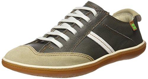 El Naturalista N5273 Soft Grain L.Suede El Viajero, Zapatos de Cordones Derby Unisex Adulto Gris (Grafito / Piedra)