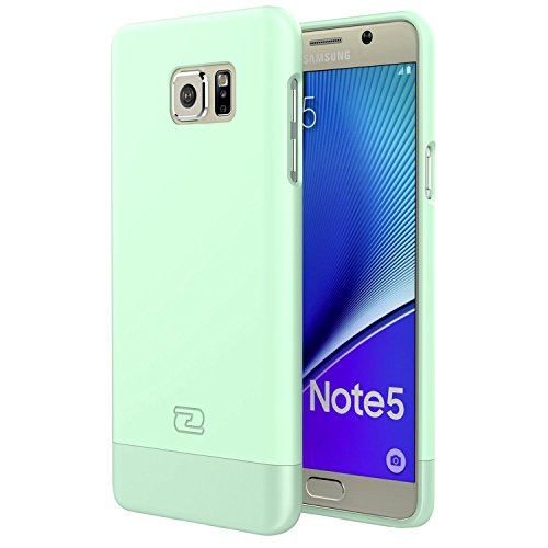 Samsung Galaxy Note 5 Case Green - Encased® Ultra Thin SlimSHIELD Hybrid Shell, Protective Slim grip Cover