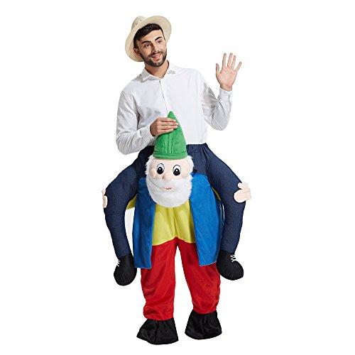TOLOCO Piggyback Ride On Riding Shoulder Adult Costume Easter Mascot Pants (Dwarf)