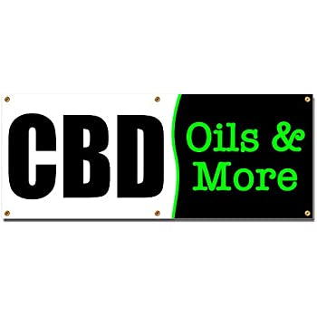 Store Many Sizes Available CBD Natural Depression Relief Extra Large 13 oz Heavy Duty Vinyl Banner Sign with Metal Grommets Advertising Flag, New