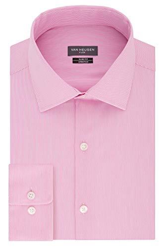 Van Heusen Men's Flex Collar Slim Fit Stretch Dress Shirt, Petal, 16.5