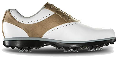 FootJoy Women's Emerge-Previous Season Style Golf Shoes White 8 M Taupe, US by FootJoy