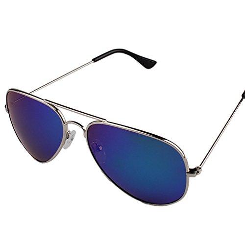 Verde LINNUO Metal Mujer Pesca Conductor Aviador UV Proteccion Gafas Hombre Lentes del Sunglasses de Plata Marco Polarizadas Sol qRgCUqrZ