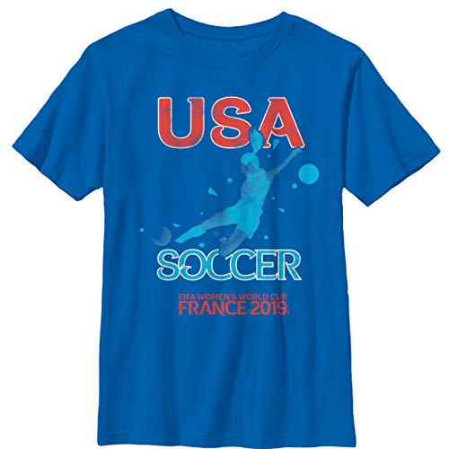 Fifth Sun FIFA Women's World Cup France 2019 Boys' USA Star Player Royal Blue T-Shirt
