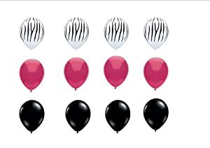 Zebra Print Latex Balloons Birthday, Graduation, Baby Shower Decorations  Supplies By Qualatex