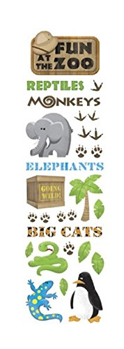 - KAREN FOSTER Design Scrapbooking Clearly Stickers, Fun at The Zoo, 12 x 12
