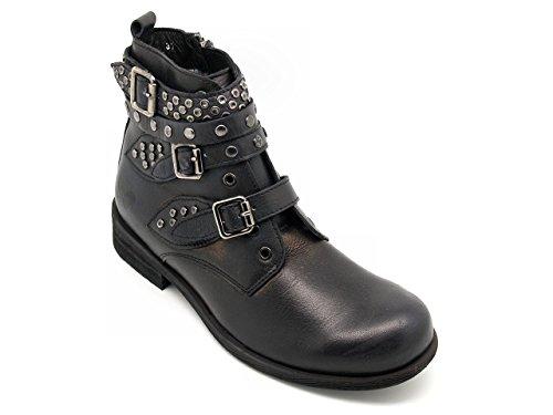 Felmini - Botas de Piel para mujer Negro Lavado nero