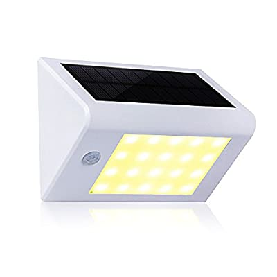 Solar 20 LED Wall Lights-White