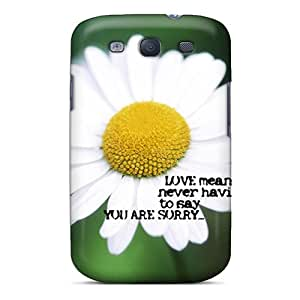 [hCQ4133nCvw]premium Phone Case For Galaxy S3/ Love Means Tpu Case Cover