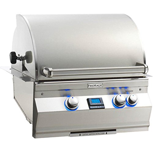 - Fire Magic Aurora A430i 24-inch Built-in Natural Gas Grill With One Infrared Burner And Rotisserie - A430i-6l1n