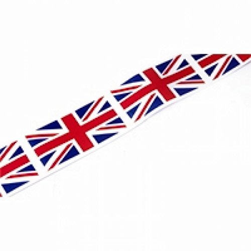 Minerva Crafts 35mm Patriotic Union Jack Acetate Ribbon Red, White & Blue - per 50 metre roll