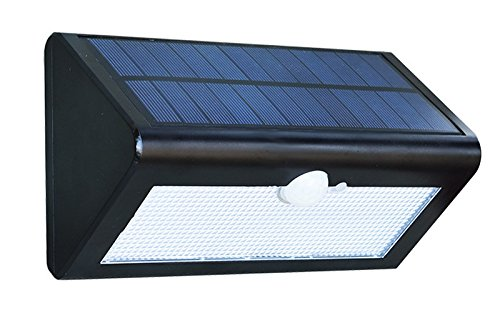 QPLUS Solar Lights Outdoor Motion Sensor, Super Bright 38 LED,Genuine Rechargeable Batteries, Solar Powered Wireless Water-Proof Motion Activated Solar Energy Home Office Security Light (Black) by QPLUS