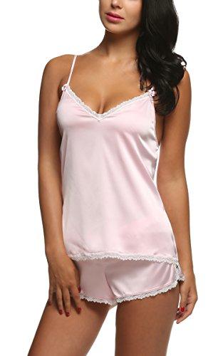 Ekouaer - Pijama - para mujer Rosa