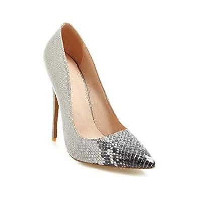 BalaMasa Womens Assorted Colors Checkered Casual Black Urethane Pumps Shoes APL10901-4 B(M) US