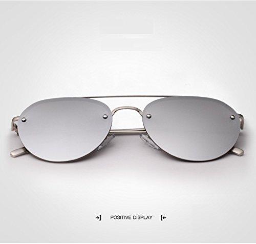 Gafas Driving Sol Silver para Hombres para Lady Mirror polarizadas Silver UV400 de Jusheng Color Hombre Sunglasses FqdgCCv