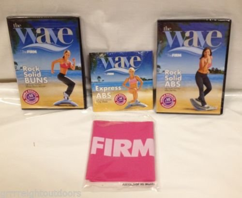 (The Wave 3 DVD's and Pink Resistance Band Express Abs Rock Solid Buns And Abs)