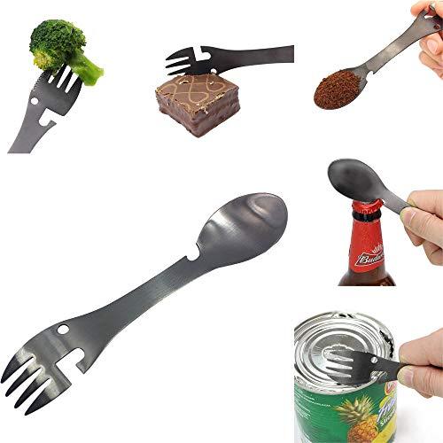 - Portable Fork Shape Bottle Openers,Yanvan New Multifunctional Camping Cookware Spoon Fork Bottle Opener Portable Tool (Silver)