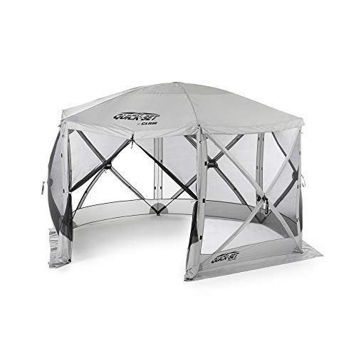 Quick Set Clam Escape Portable Camping Outdoor Gazebo Canopy Shelter, Gray