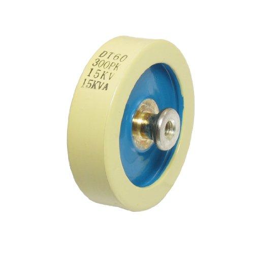 uxcell Beige Blue 300PF 15KV 15KVA Door Knob High Voltage HV Ceramic Capacitor