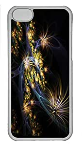 Case Cover for iPhone 5C Transparent Hard Plastic Skin Shell for iPhone 5C with Flowers On the Roots